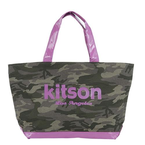 Kitson 迷彩帆布托特包 PURPLE