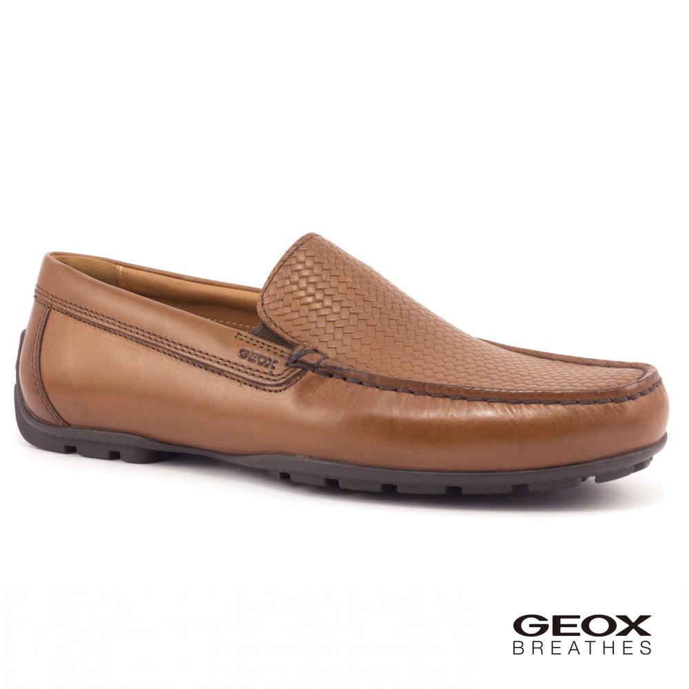 GEOX - U MONER 2FIT B 紳士鞋 編織皮鞋 棕色(U824YB043JM6001)