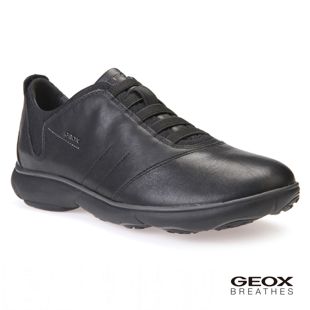 GEOX - U NEBULA B 透氣運動鞋 牛皮 黑色(U52D7B000469999)