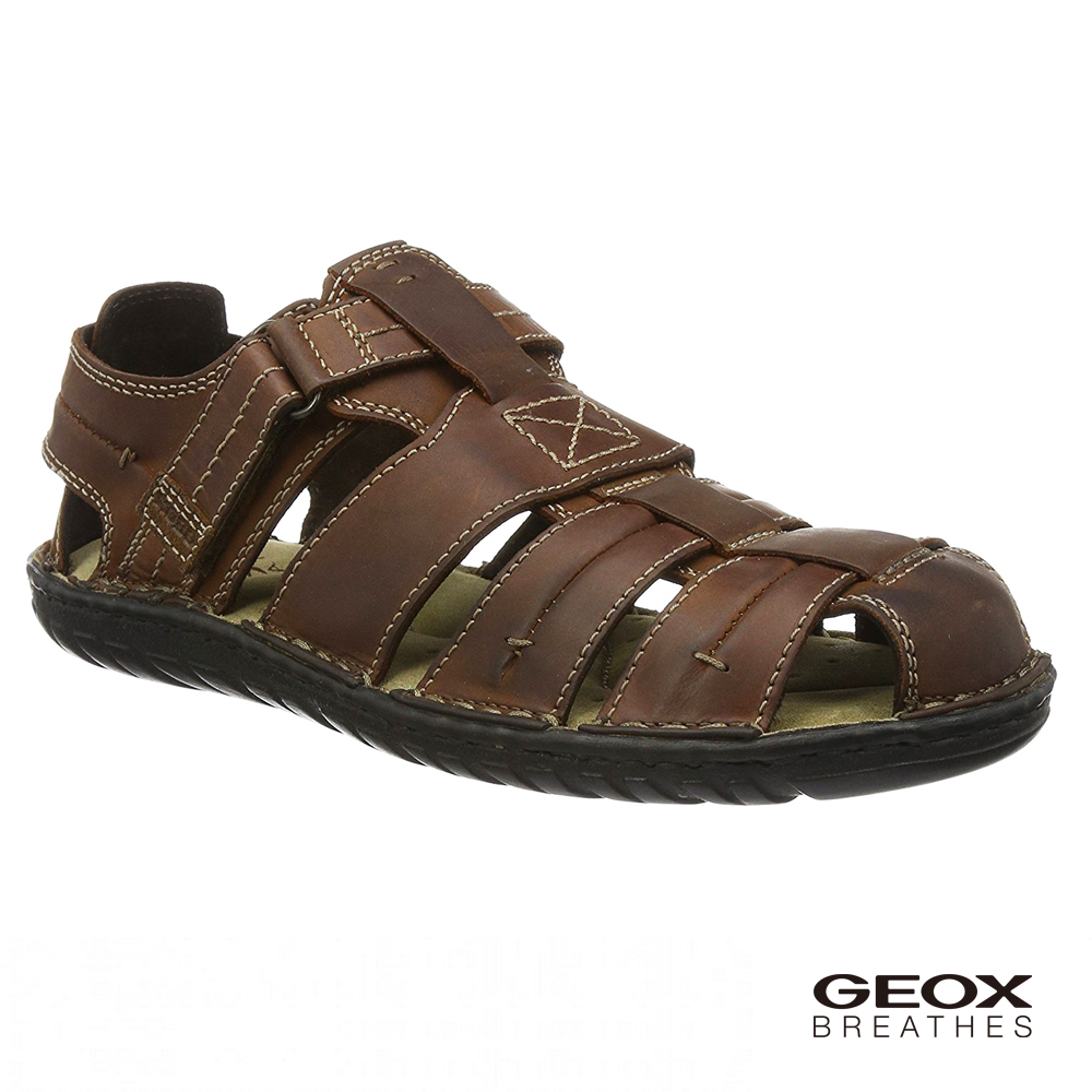 GEOX - U RUFUS A 多孔鞋底涼鞋 棕色(U72V4A085226003)