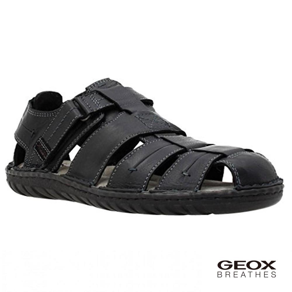 GEOX - U RUFUS A 多孔鞋底涼鞋 黑色(U72V4A085229999)