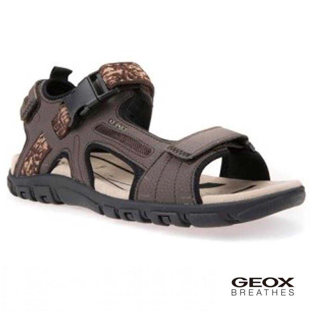 GEOX - U S.STRADA A 多功能涼鞋 深棕色(U8224A000506027)