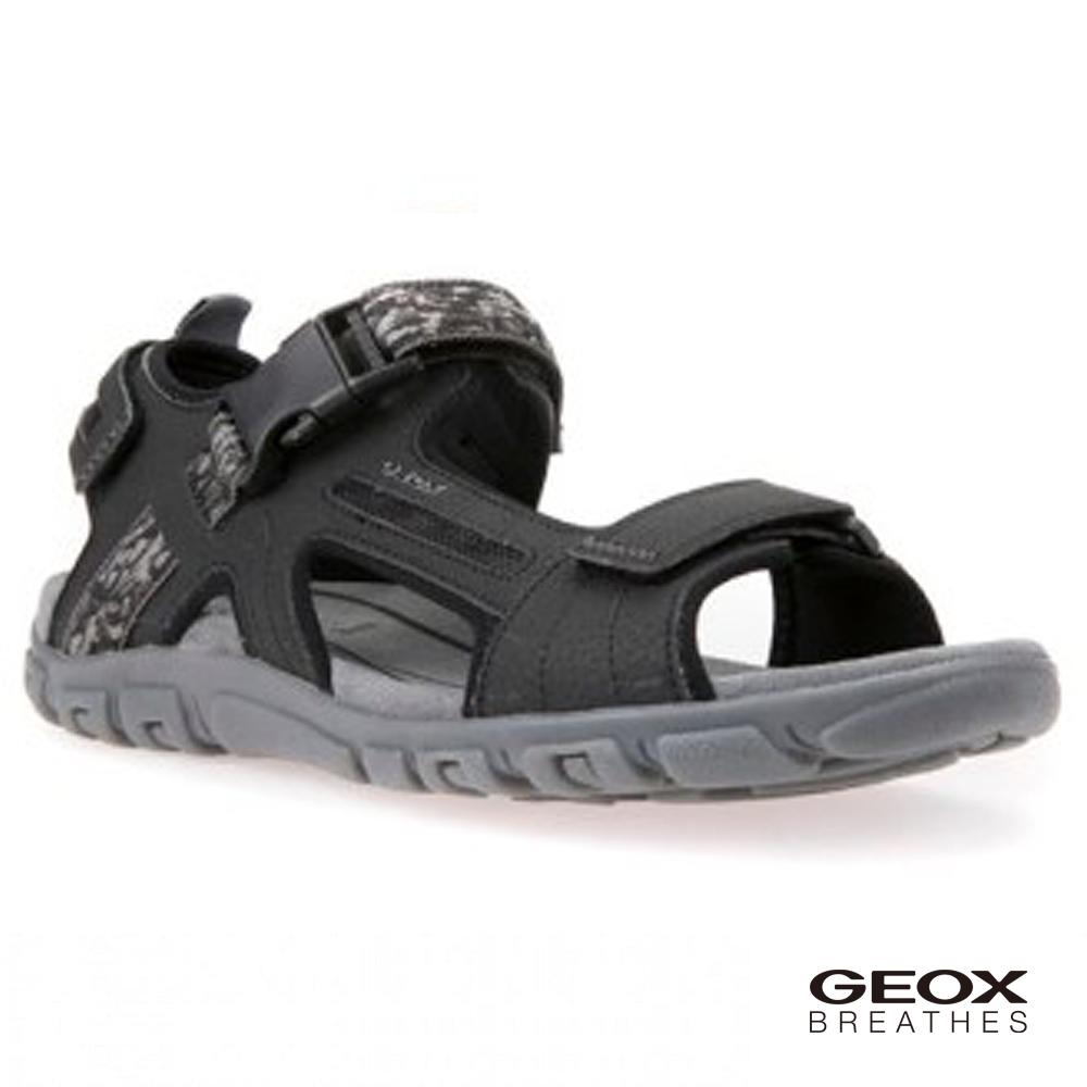 GEOX - U S.STRADA A 多功能涼鞋 黑色(U8224A000509997)