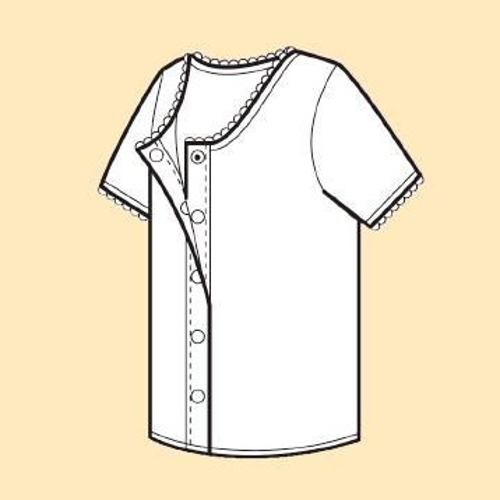 【樂齡網】日本製女用前開式自粘內衣 - 三分袖(L)