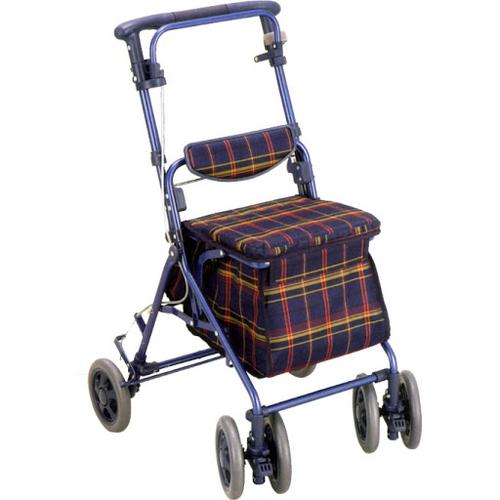 【樂齡網】SHIMA銀髮族購物散步車(藍格)