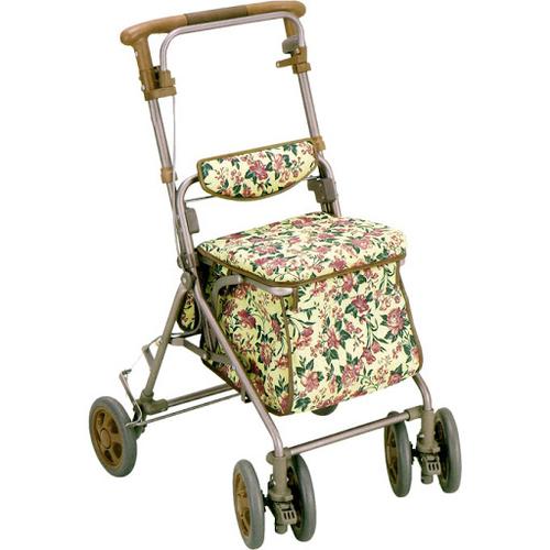 【樂齡網】SHIMA銀髮族購物散步車(花紋)
