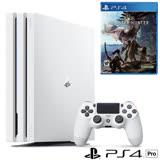 Sony PS4 Pro 1TB主機(白)+魔物獵人遊戲片