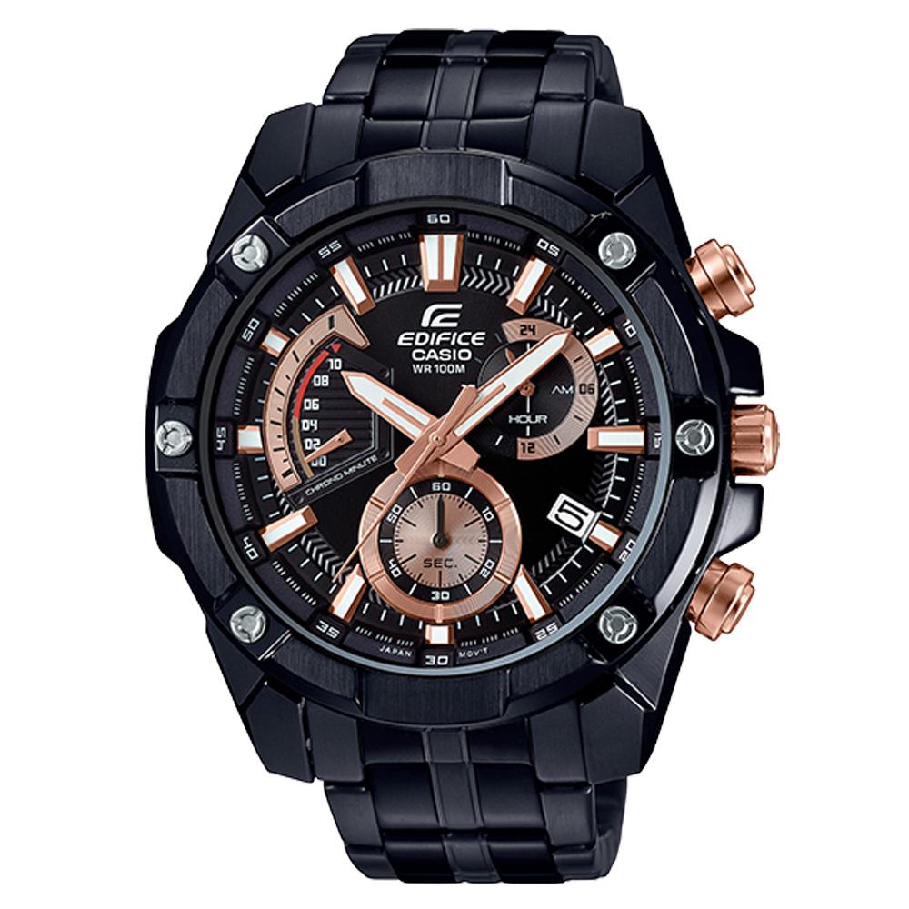 EDIFICE 經典賽車計時男錶 不鏽鋼錶帶 防水100米 日期顯示 EFR-559DC-1A