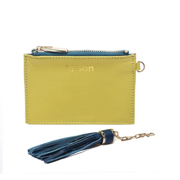 Kitson 流蘇Card case真皮鎖匙/零錢包-GREEN