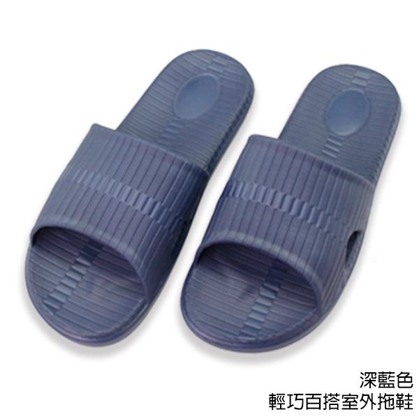【333家居鞋館】簡約家居風★輕巧百搭室外拖鞋-深藍