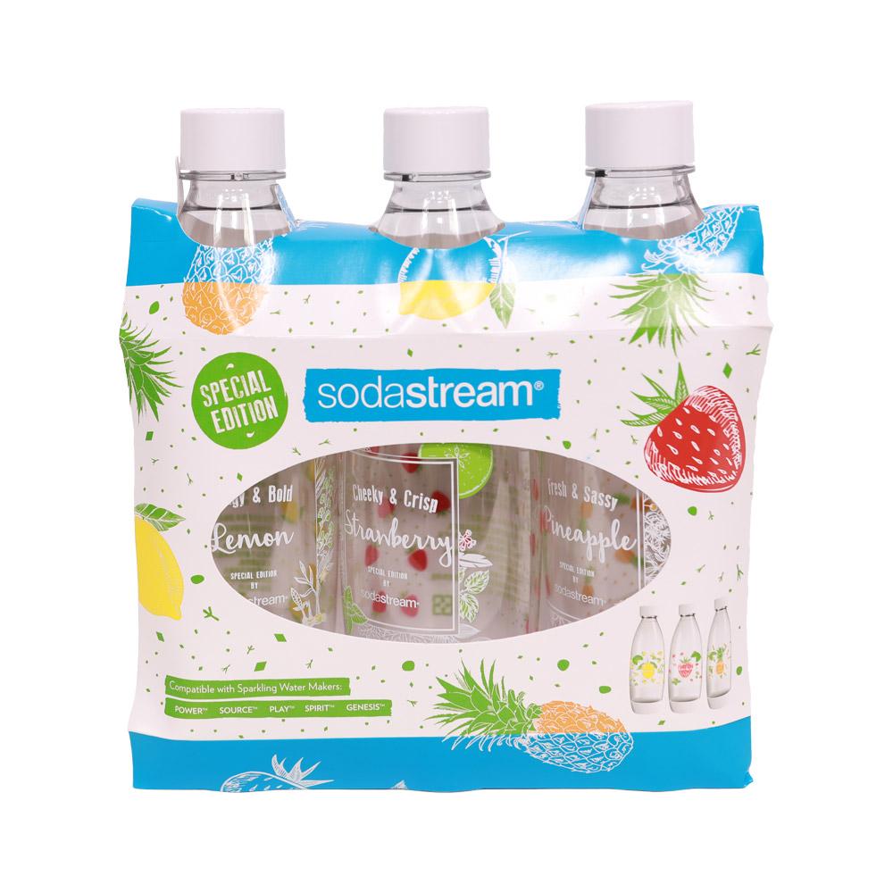 Sodastream夏日果宴水滴寶特瓶1L- 3入