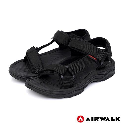 【AIRWALK-快速到貨】-女款-Y字造型休閒涼鞋-黑