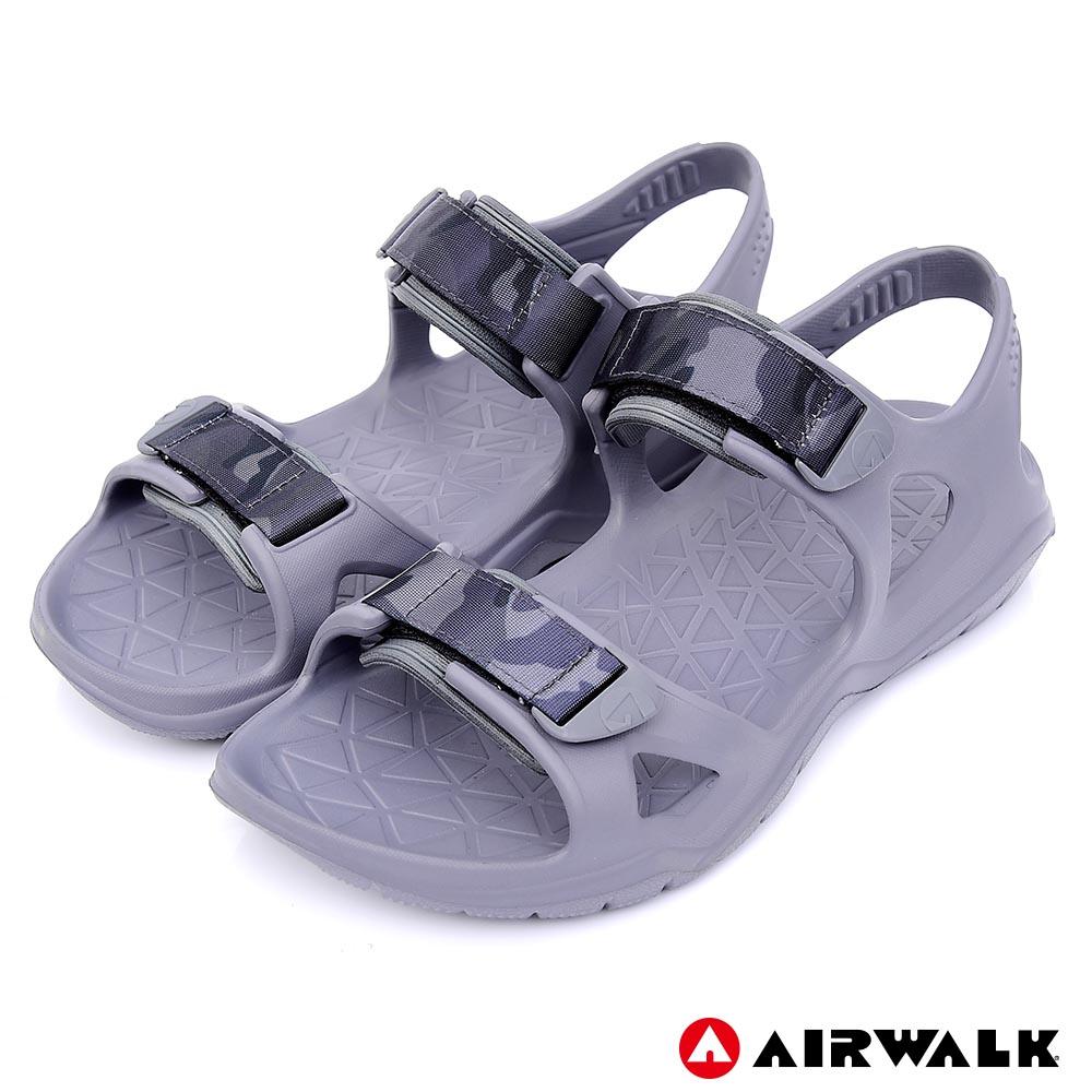 【AIRWALK-快速到貨】-減壓緩震輕量休閒涼鞋-中灰色