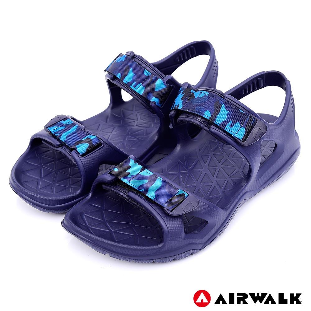 【AIRWALK-快速到貨】-減壓緩震輕量休閒涼鞋-深藍色