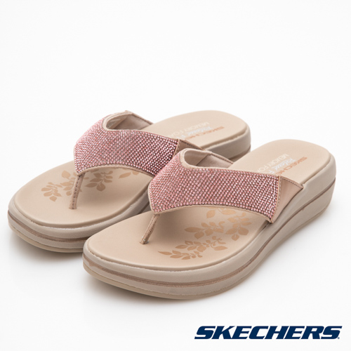 SKECHERS (女) 時尚休閒系列 UPGRADES 拖鞋 - 41055RSGD