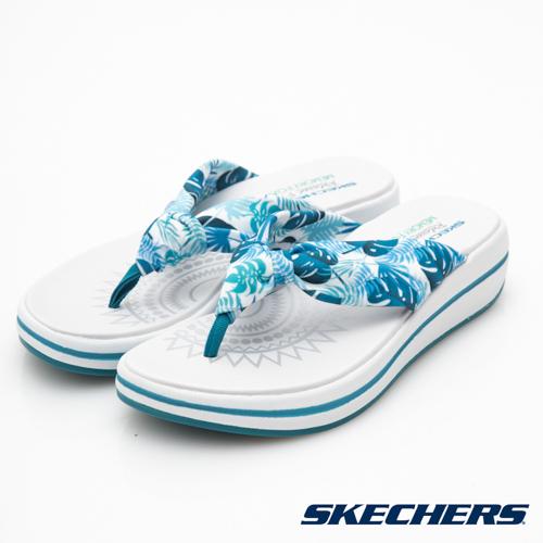 SKECHERS (女) 時尚休閒系列 UPGRADES 拖鞋 - 40965BLU