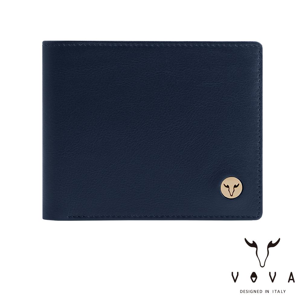 VOVA 費城系列5卡窗格皮夾(深海藍)VA118W001NY