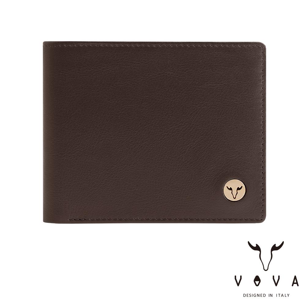 VOVA 費城系列9卡中間翻皮夾(煙草棕)VA118W004BR