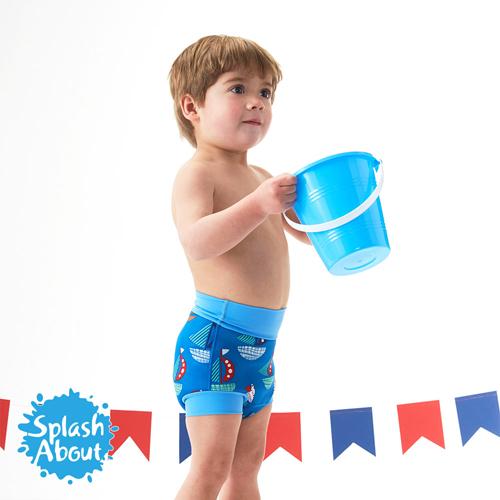 潑寶 Splash About 3D加強版 游泳尿布褲 - 普普風帆船