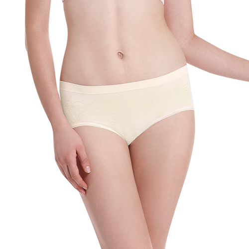 【LADY-快速到貨】超彈力親膚無痕系列 中腰低衩三角褲(黃色)
