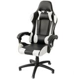 Abuy-立體包覆聯動椅背電競賽車椅-白色款