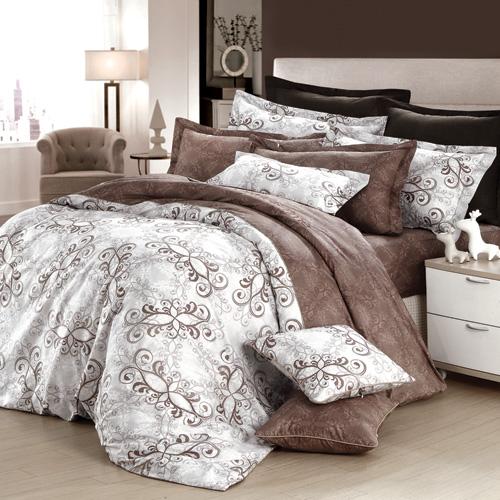 GOLDEN TIME-歐系皇殿-200織紗精梳棉-兩用被床包組(加大)