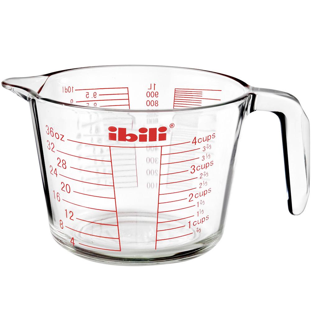 《IBILI》耐熱玻璃握柄量杯(1000ml)