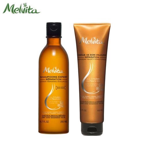 Melvita蜜葳特-植物油複方洗髮精送潤髮乳