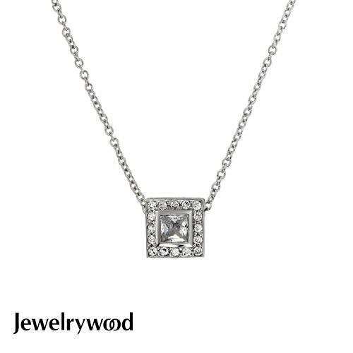 Jewelrywood 純銀方寸晶鑽項鍊