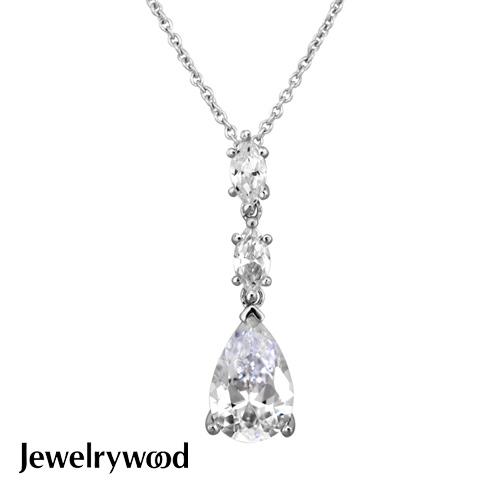 Jewelrywood 純銀古典晶鑽項鍊