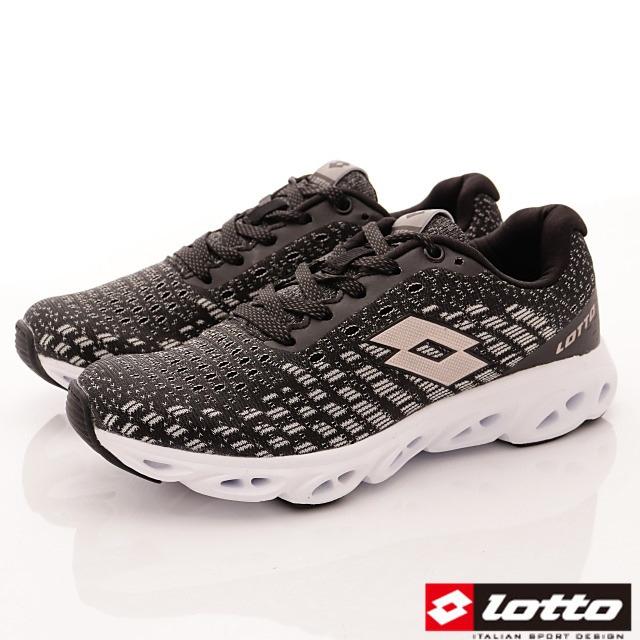 Lotto義大利運動鞋-風動緩震潮流鞋-WR6610黑玫瑰金-23-25.5cm