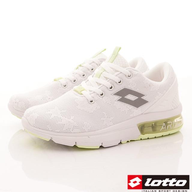 Lotto義大利運動鞋-半氣墊緩震潮流鞋-WR6629白-23-25.5cm