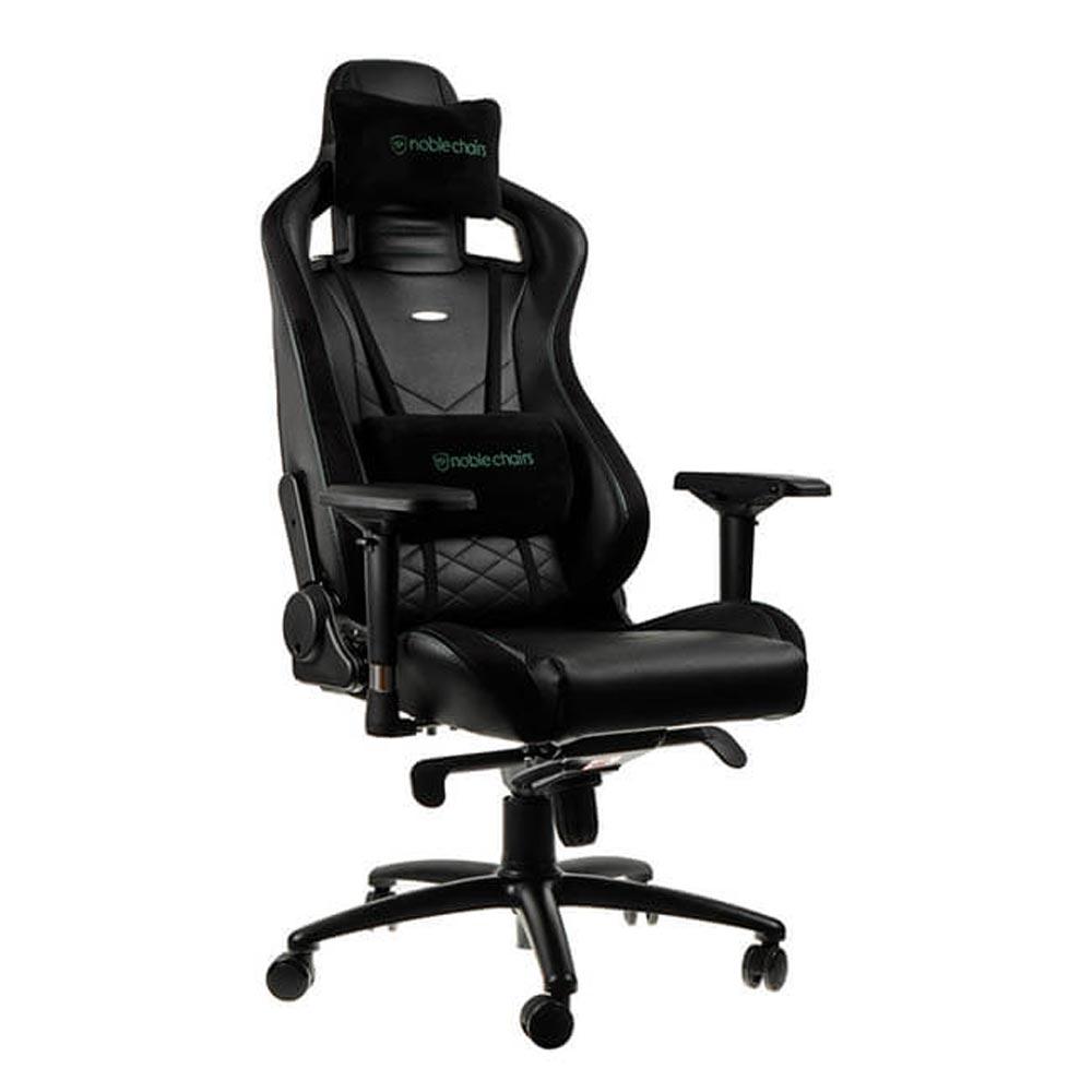 noblechairs 皇家 EPIC 系列電競賽車椅 (PU經典款) - 黑綠