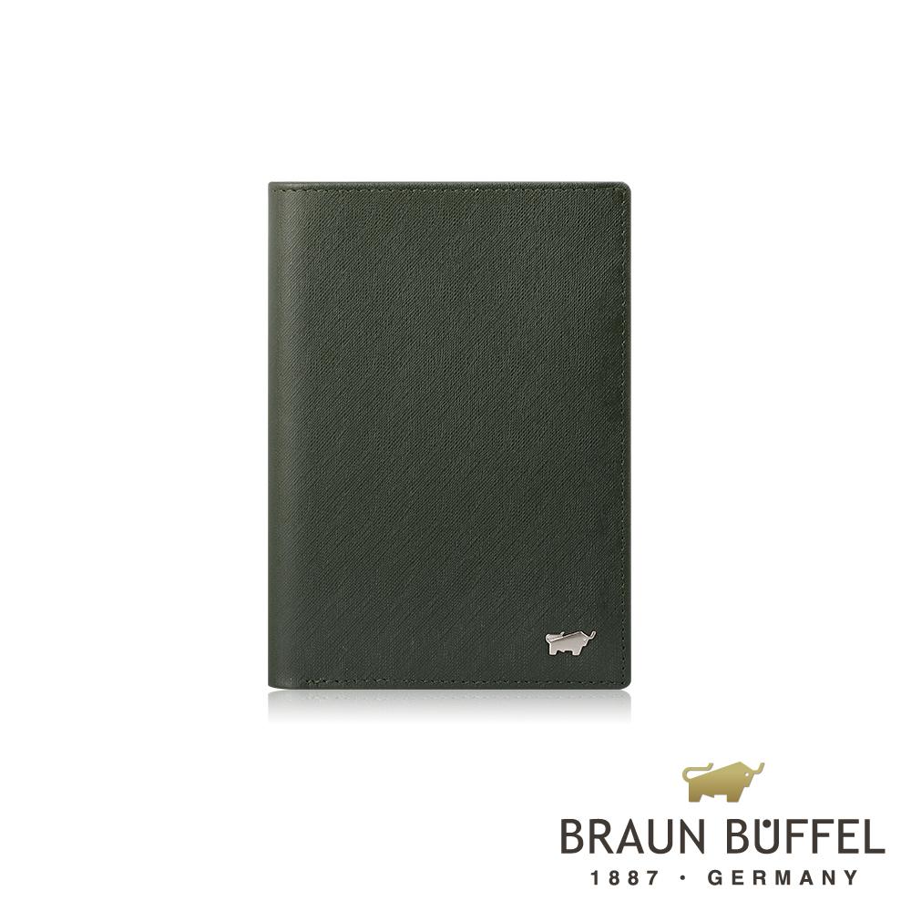 【BRAUN BUFFEL】德國小金牛 HOMME-M系列3卡護照夾(墨綠)BF306-500-MOS
