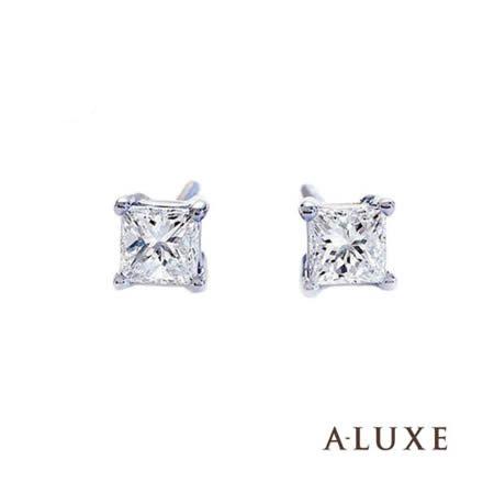A-LUXE  亞立詩鑽石 公主方單顆美鑽鑽石耳環