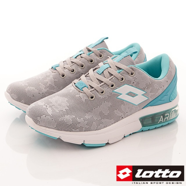 Lotto義大利運動鞋-半氣墊緩震潮流鞋-WR6626灰藍-23-25.5cm