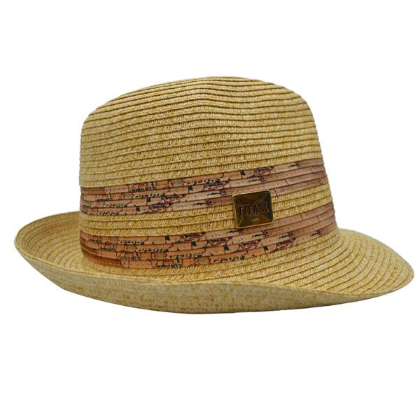 Alviero Martini 時尚草帽-咖啡