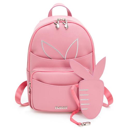 PLAYBOY- 後背包 趣味蘿蔔兔系列-粉色