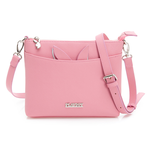 PLAYBOY- 斜背包 趣味蘿蔔兔系列-粉色
