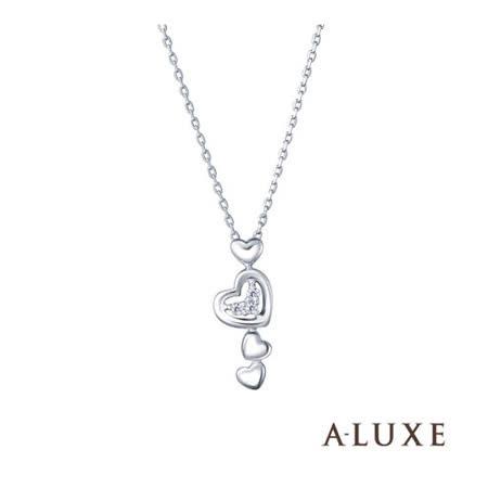 A-LUXE 亞立詩 Shine系列 愛的圓舞曲鑽石項鍊