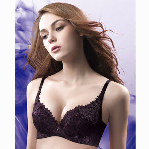 【華歌爾】伊珊露絲飛思美背漫舞晨曦D-E罩杯內衣(濃郁紫)