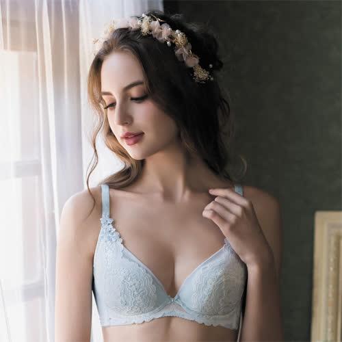 【華歌爾】伊珊露絲夢幻花園 C-E 罩杯內衣(夢幻藍)性感豐胸-飛思美背-嚴選華麗蕾絲