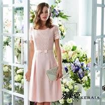【克萊亞KERAIA】 蕾絲拼接短袖洋裝