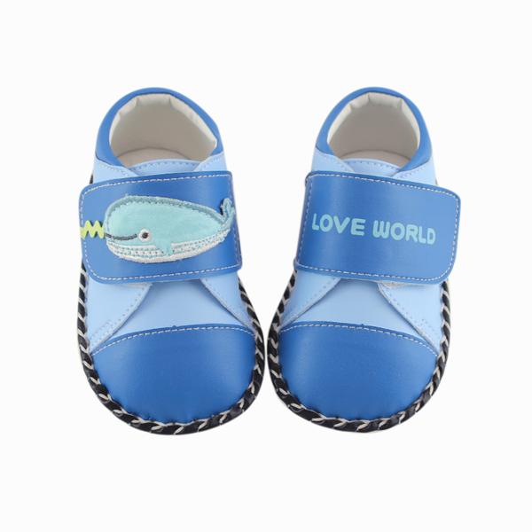 【愛的世界】LW鯨魚寶寶鞋/學步鞋(藍色)-台灣製-
