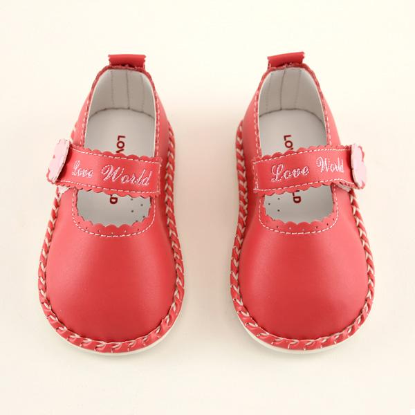 【愛的世界】LW小淑女寶寶鞋/學步鞋(粉色)-台灣製-
