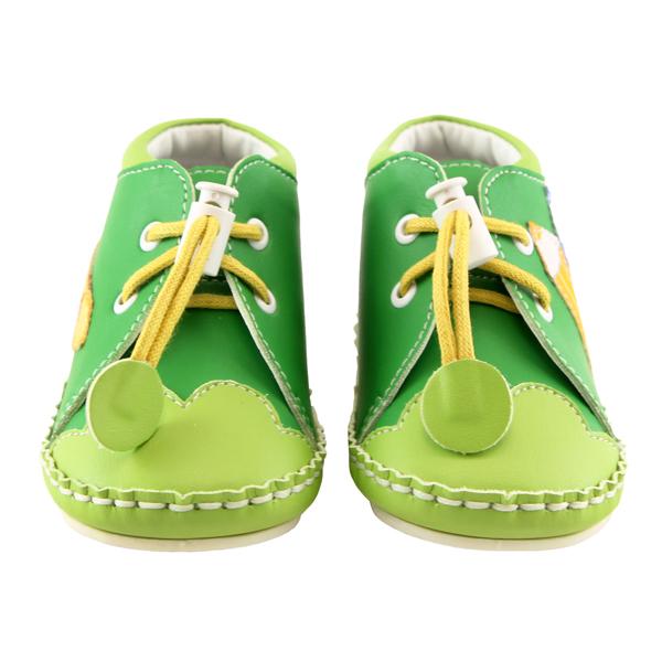 【愛的世界】LW彩色鉛筆寶寶鞋(高筒)/學步鞋(綠色)-台灣製-