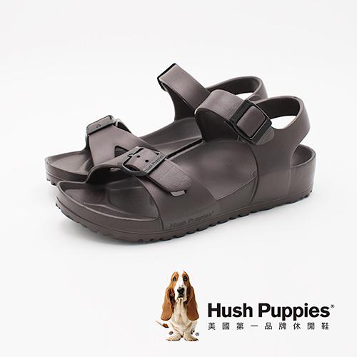 Hush Puppies 輕量休閒增高涼鞋 女鞋-深咖(另有白、灰、粉)