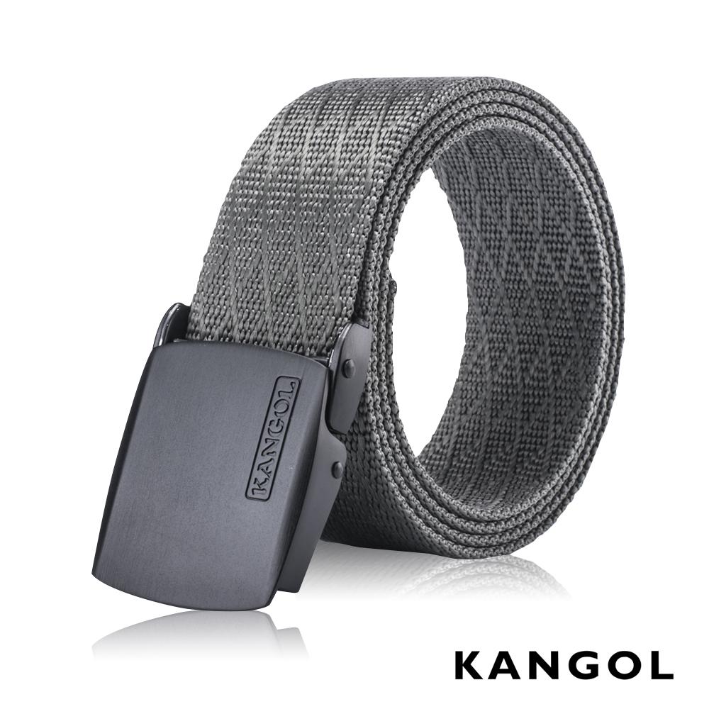 KANGOL EVOLUTION系列 英式潮流休閒自動釦皮帶-灰色網紋 KG1181