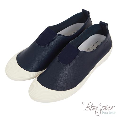 BONJOUR☆超Q軟!鬆緊帶懶人休閒鞋Mama Shoes【ZB0314】深藍