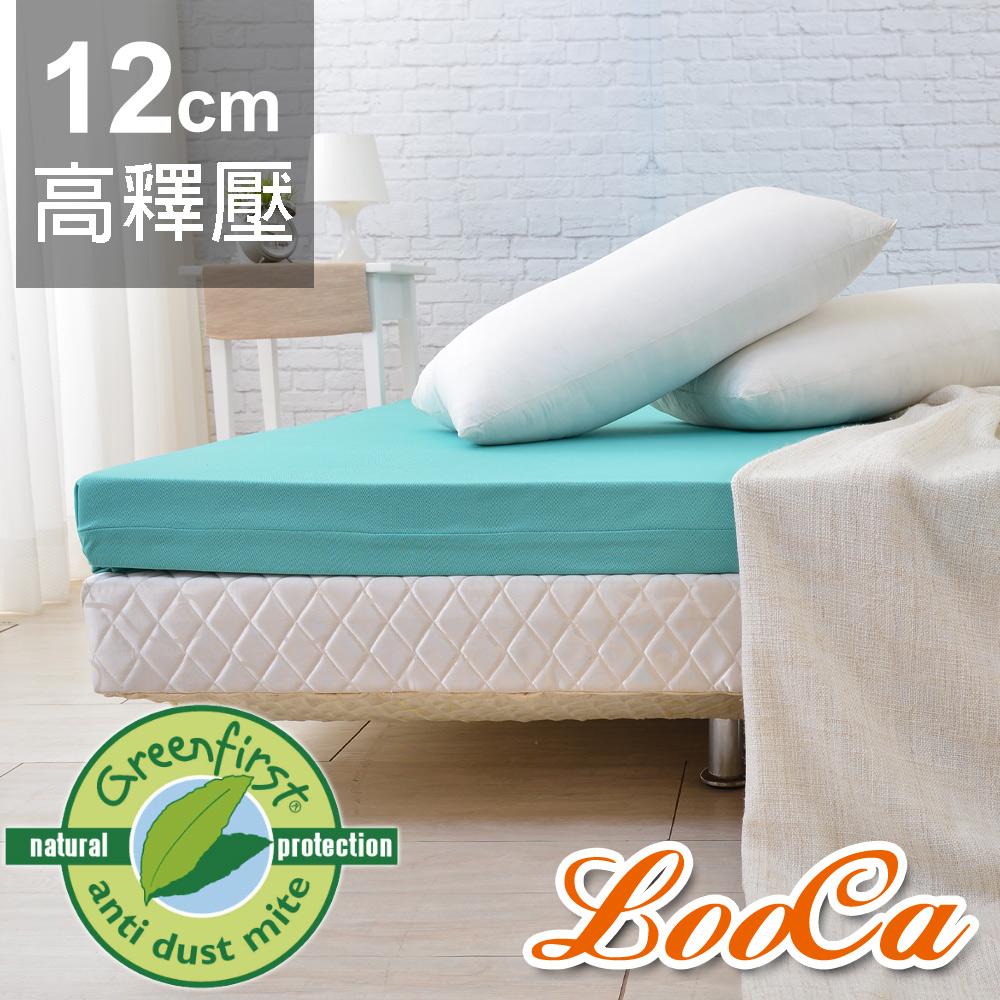 LooCa 法國防蹣防蚊高釋壓記憶床墊12cm床墊-加大6尺